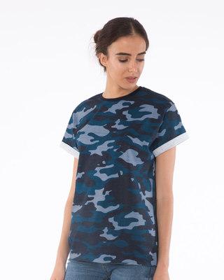 Underwater Camouflage Boyfriend T-Shirt