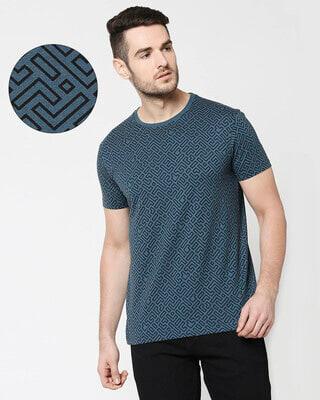 Shop Unending Maze Half Sleeves AOP T-Shirt-Front