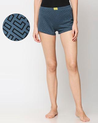 Shop Unending Maze  Printed AOP Shorts-Front