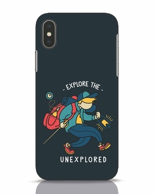 Shop Unexplored iPhone X Mobile Cover-Front