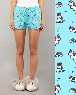 Shop Unicorns All Over Printed Boxer-Front