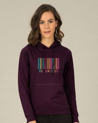 Shop Unique Barcode Fleece Hoodies-Front