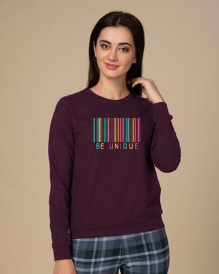 Shop Unique Barcode  Sweatshirt-Front