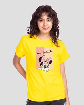 Shop Unique Minnie Boyfriend T-Shirt (DL) Pineapple Yellow-Front