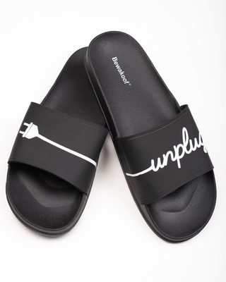 Shop Unplug Yourself Sliders-Front