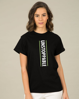 Shop Unstoppable Neon Boyfriend T-Shirt-Front
