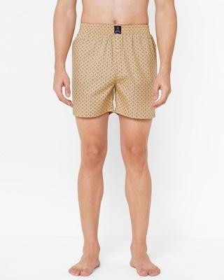 Shop Urban Scottish Men's Multi-Colored Pure Cotton Printed Boxer-Front