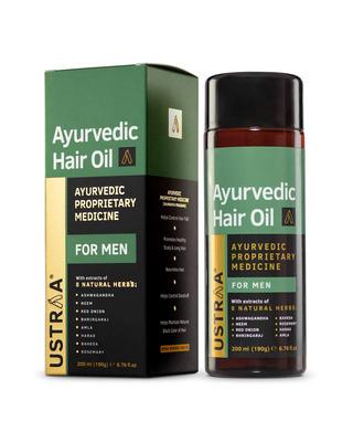 Shop Ustraa Ayurvedic Hair Oil - 200ml-Front