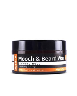 Shop Ustraa Beard & Mooch Wax - Strong Hold - 50g-Front