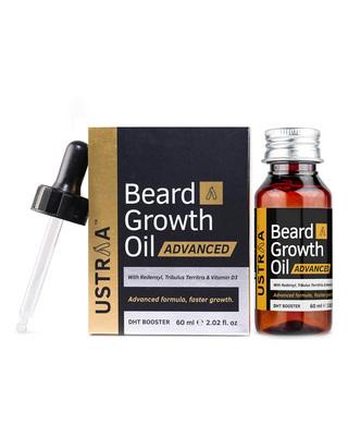 Shop Ustraa Beard Growth Oil Advanced - 60ml-Front