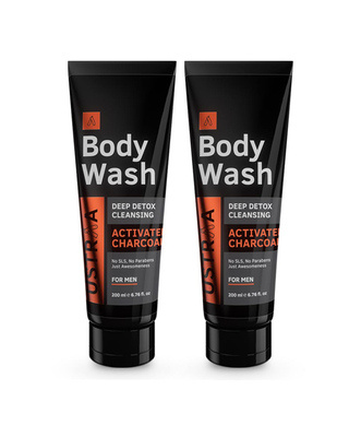Shop Ustraa Body Wash-Activated Charcol - 200 ml (Pack of 2)-Front
