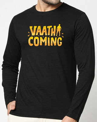 Shop Vaathi Coming Full Sleeve T-Shirt Black-Front