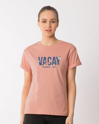 Shop Vacay Mode Boyfriend T-Shirt-Front