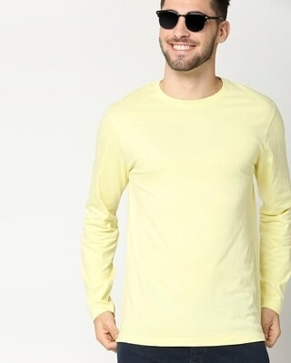 Shop Vax Yellow Full Sleeve T-Shirt-Front