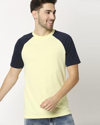 Shop Vax Yellow Raglan Half Sleeves T-Shirt-Front