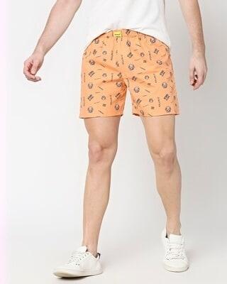 Shop Orange Rush AOP Boxer-Front
