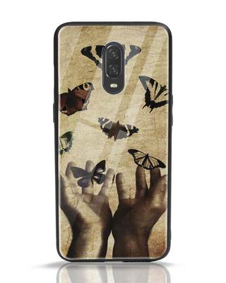 Shop Vintage Butterflies OnePlus 6T Glass Mobile Cover-Front
