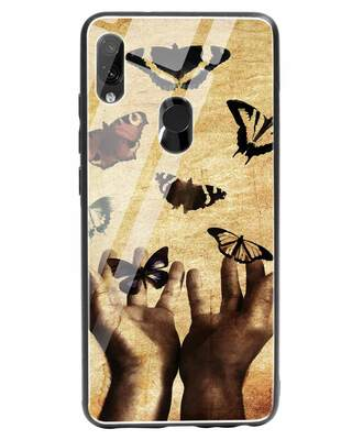 Shop Vintage Butterflies Xiaomi Redmi Note 7 Glass Mobile Cover-Front