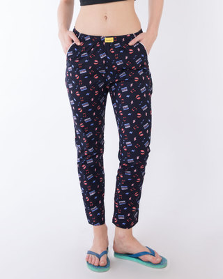 Shop Vintage Classic All Over Printed Pyjama-Front