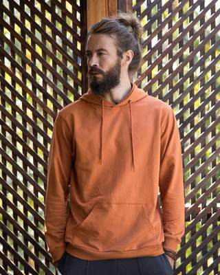 Shop Vintage Orange Fleece Hoodies-Front