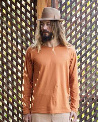 Shop Vintage Orange Full Sleeve T-Shirt-Front