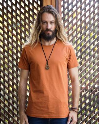 Shop Vintage Orange Half Sleeve T-Shirt-Front