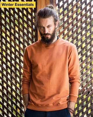 Shop Vintage Orange Sweatshirt-Front
