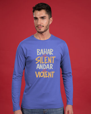 Shop Violent Full Sleeve T-Shirt-Front