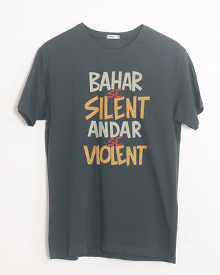 Shop Violent Half Sleeve T-Shirt-Front