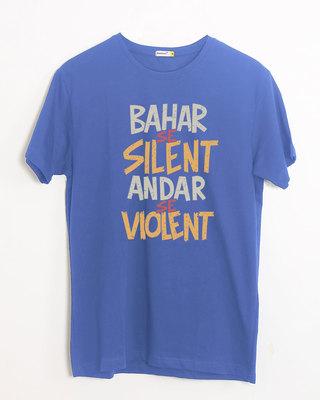 Shop Violent Half Sleeve T-Shirt-Front