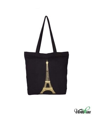 Shop Vivinkaa Lady Printed Solid Tote-Front