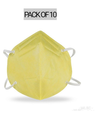 Shop Vivinkaa (Pack of 10) N95 Yellow Mask-Front