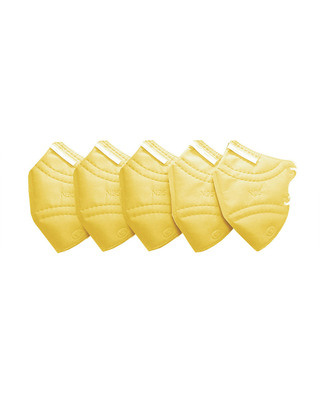 Shop Vivinkaa Pack of 5- N95 Yellow Mask-Front