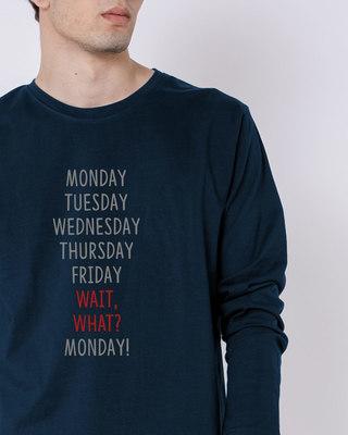 Buy Wait What Full Sleeve T-Shirt Online India @ Bewakoof.com