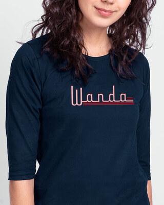 Shop Wanda Round Neck 3/4 Sleeve T-Shirts (WVL)-Front