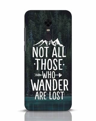 Shop Wanderer Xiaomi Redmi Note 5 Mobile Cover-Front