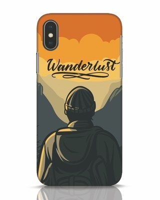 Shop Wanderlust Man iPhone X Mobile Cover-Front