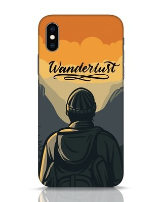 Shop Wanderlust Man iPhone XS Mobile Cover-Front