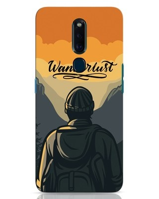 Shop Wanderlust Man Oppo F11 Pro Mobile Cover-Front