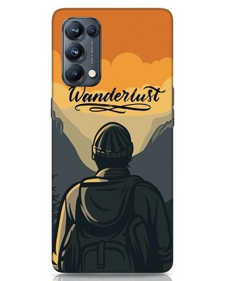 Shop Wanderlust Man Oppo Reno 5 Pro Mobile Cover-Front