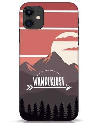 Shop Wanderlust Mountains iPhone 11 Mobile Cover-Front