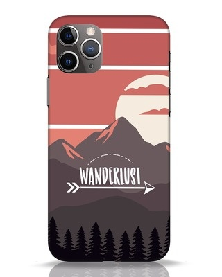 Shop Wanderlust Mountains iPhone 11 Pro Mobile Cover-Front