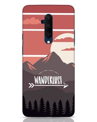 Shop Wanderlust Mountains OnePlus 7T Pro Mobile Cover-Front