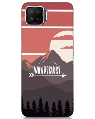 Shop Wanderlust Mountains Oppo F17 Mobile Cover-Front