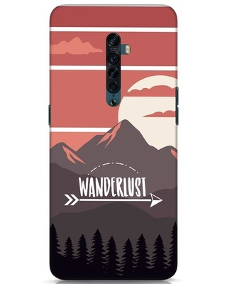 Shop Wanderlust Mountains Oppo Reno 2 Mobile Cover-Front