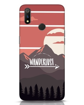Shop Wanderlust Mountains Realme 3 Pro Mobile Cover-Front