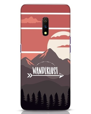 Shop Wanderlust Mountains Realme X Mobile Cover-Front
