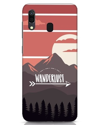 Shop Wanderlust Mountains Samsung Galaxy A30 Mobile Cover-Front