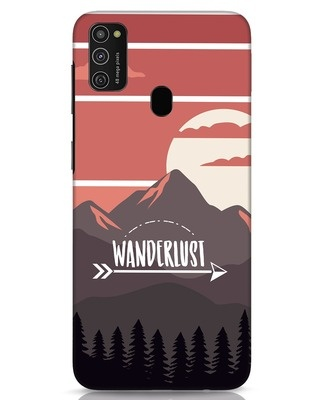 Shop Wanderlust Mountains Samsung Galaxy M21 Mobile Cover-Front