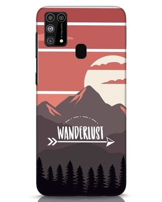 Shop Wanderlust Mountains Samsung Galaxy M31 Mobile Cover-Front